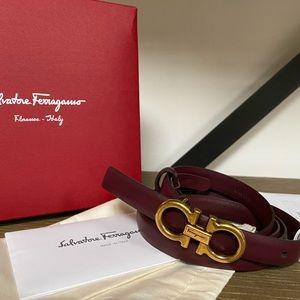 AUTH Ferragamo Leather Belt